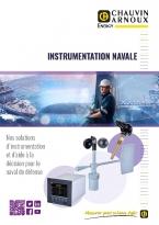 Documentation commerciale, offre marine, mesure du vent, mesure de la température d'eau de mer, sondes, Chauvin Anoux Energy, capteurs, indicateurs